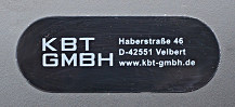 Type label KBT GmbH 2012