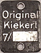 Type label Original-Kiekert 1950